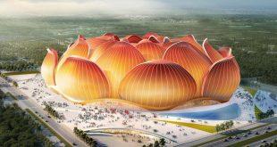 Китай строи стадион за над 100000 зрители с формата на лотус